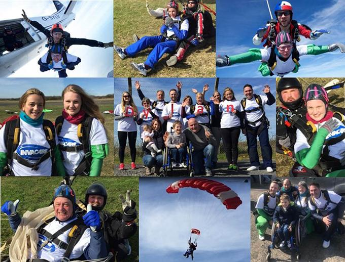 invacare charity skydive