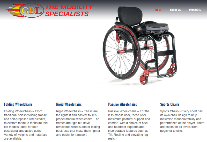 gbl wheelchair new website