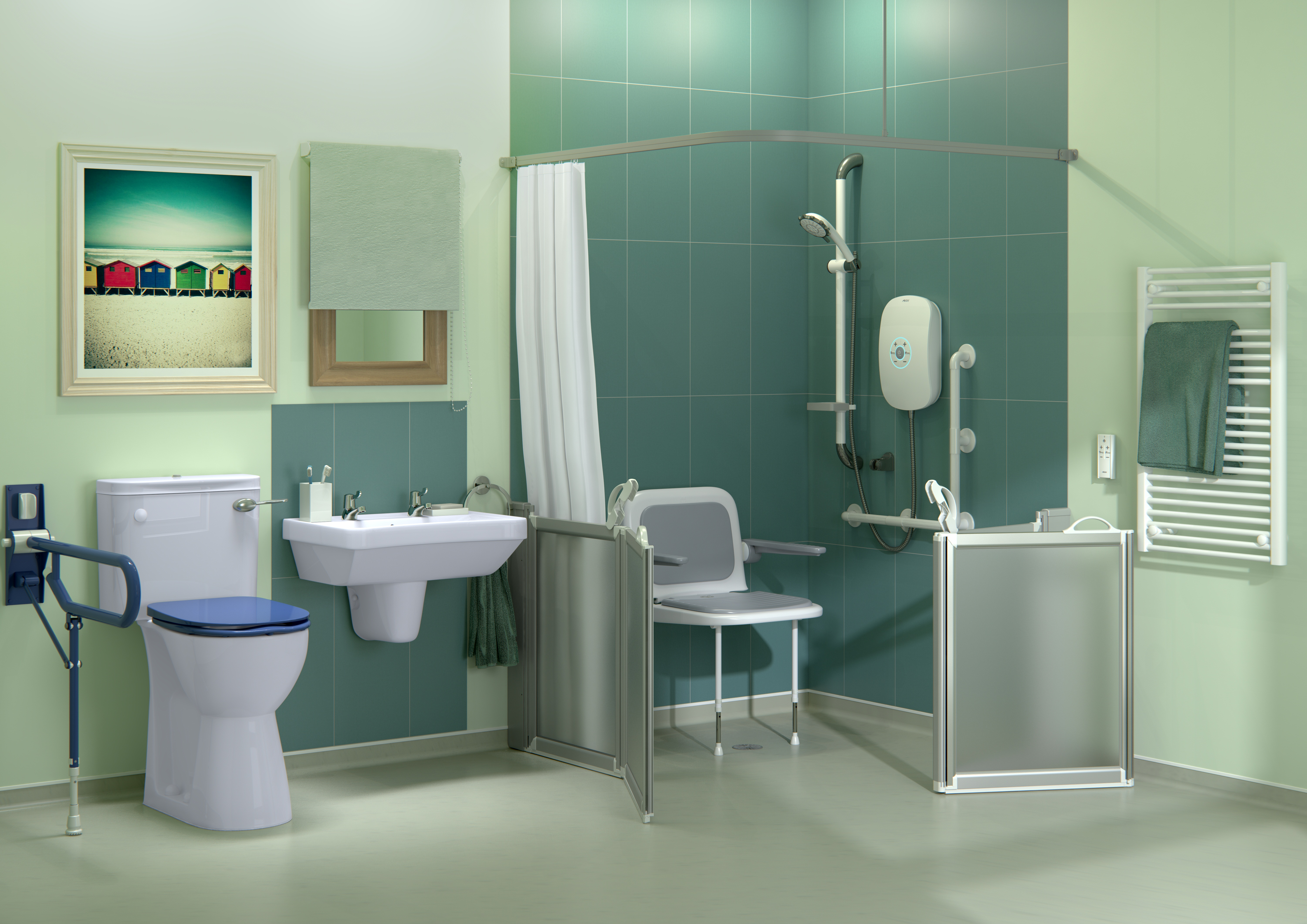 AKW offers an advanced range of showering solutions