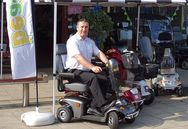 Shaun Green Motability Manager Beactive Mobility on Freerider Mayfair 4 Deluxe crop