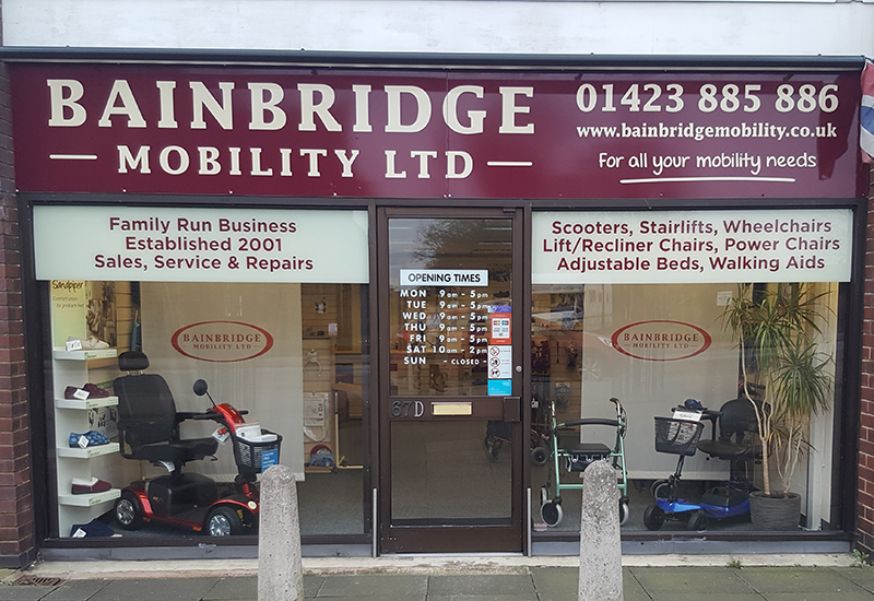 Bainbridge Mobility Harrogate-Showroom crop
