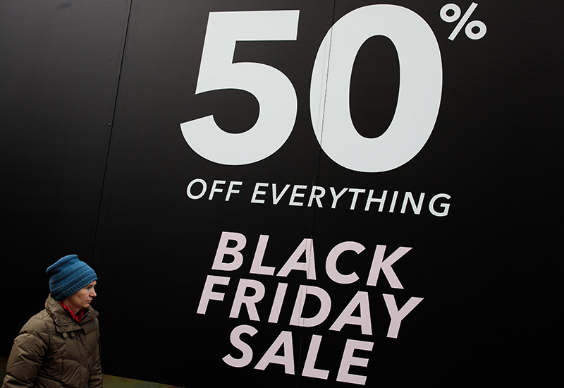 Black Friday Shoppers Hit UK High Streets