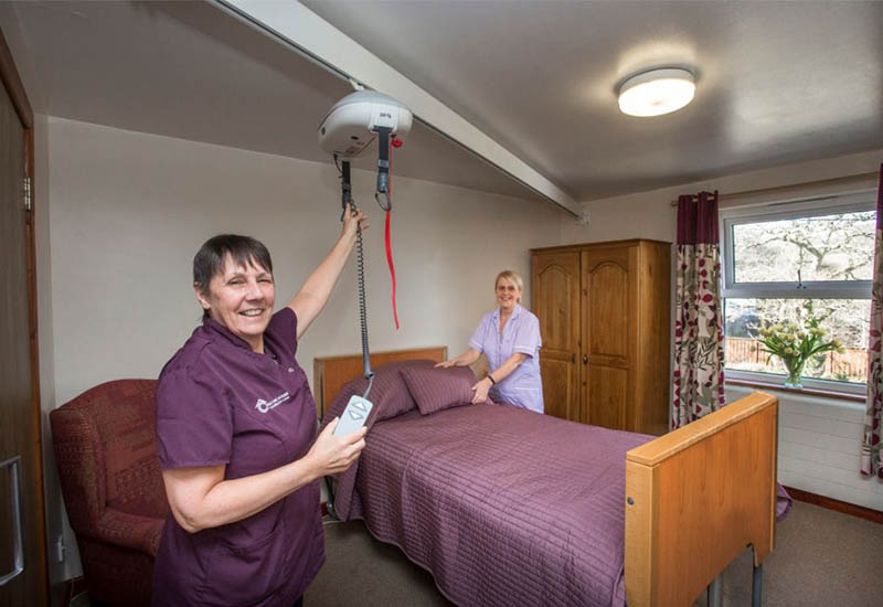 cariad care homes hoist