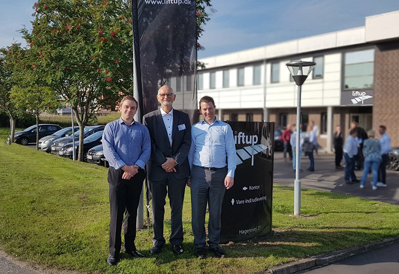 L-R Tristan Hulbert, Helge Lund, and George Hulbert at the Liftup HQ
