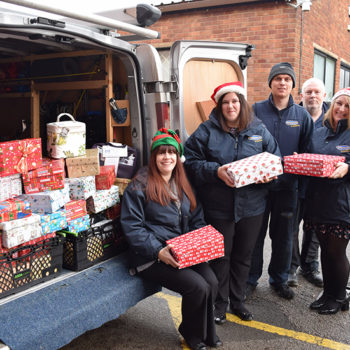 Shoeboxes on their way