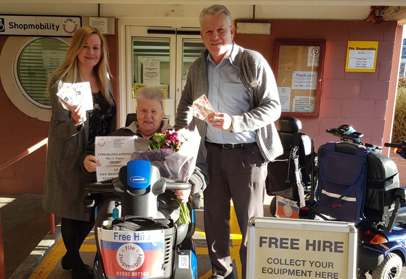 Fife Shopmobility 150000th customer