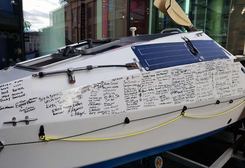 atlantic dream boat signed