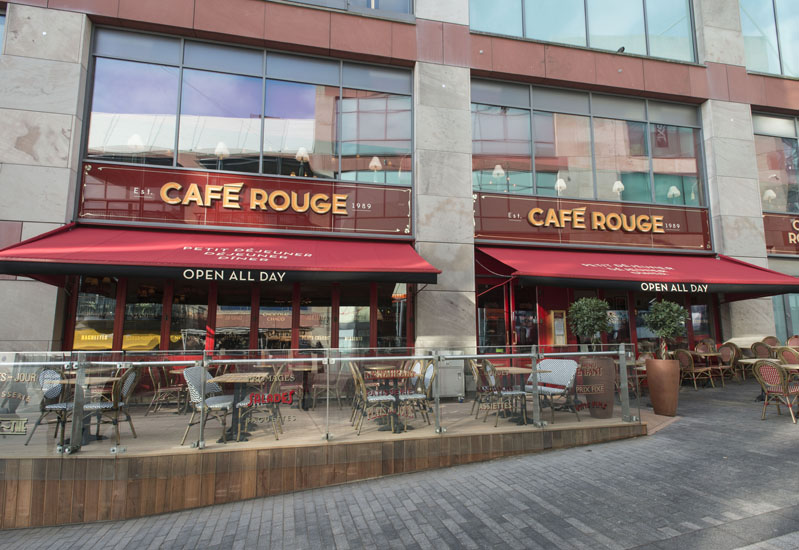 Cafe Rouge at Birmingham's Bullring reopens after a refit.