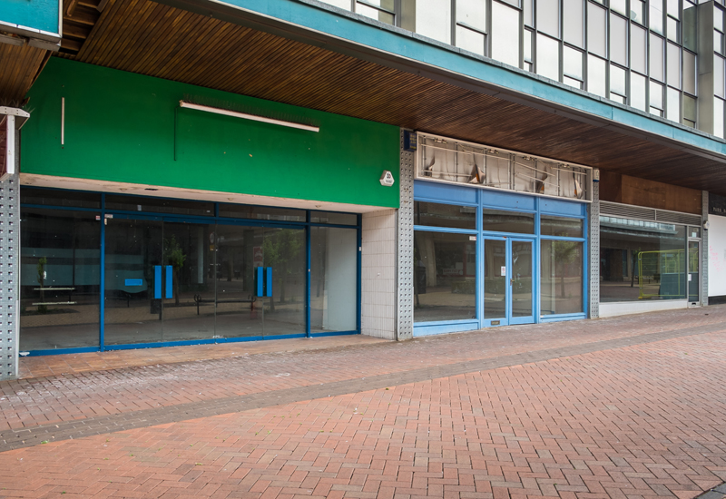 empty shop retail high street