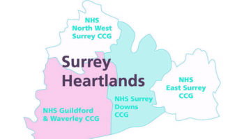 surrey heartlands ccg map