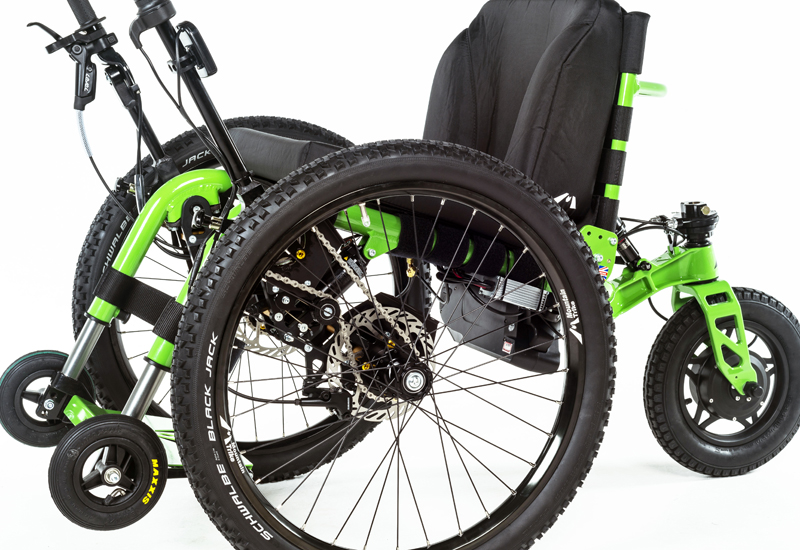 eTrike new all terrain wheelchair from Mountain Trike